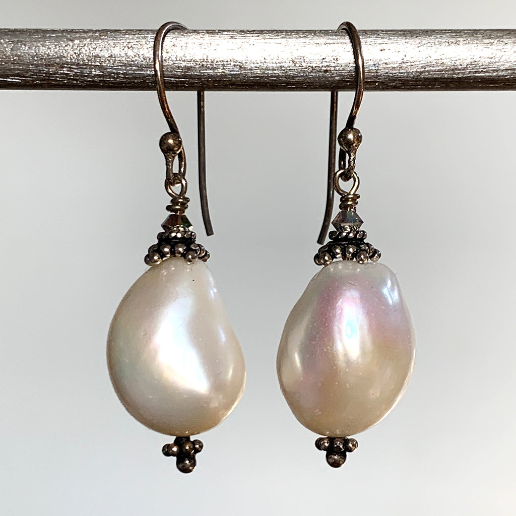 Extra Large Baroque Pearl Earrings