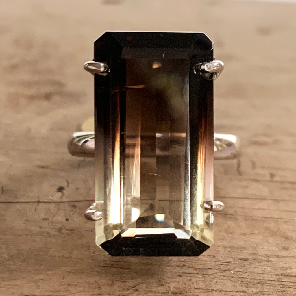 Graduated Smoky Quartz Statement Ring