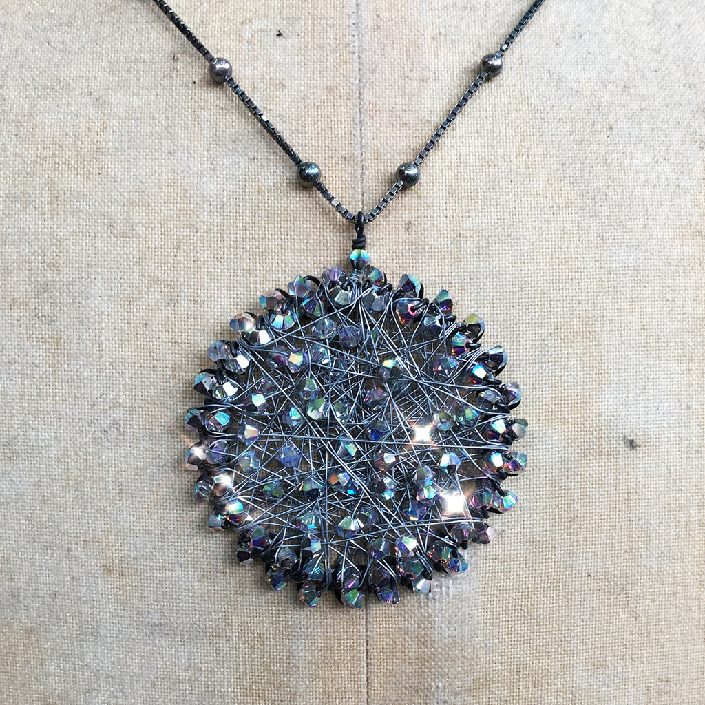 Large Crystal Orb Necklace