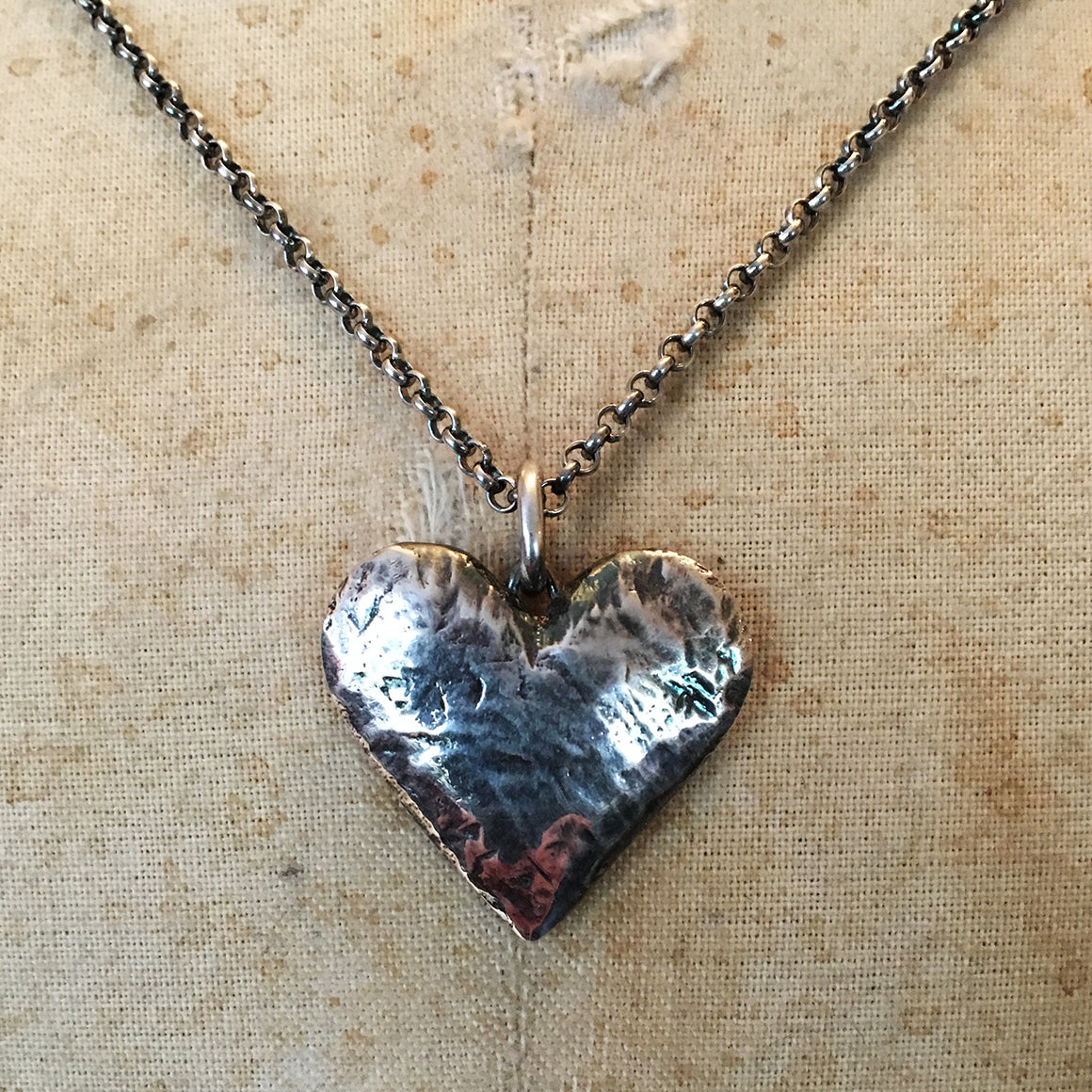 Large hallmarked solid silver heart necklace snow jewels large hallmarked solid silver heart necklace aloadofball Gallery