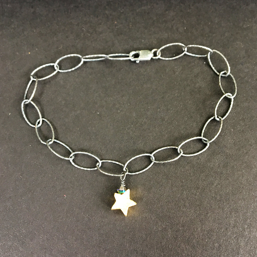 Loose Link Bracelet with Star