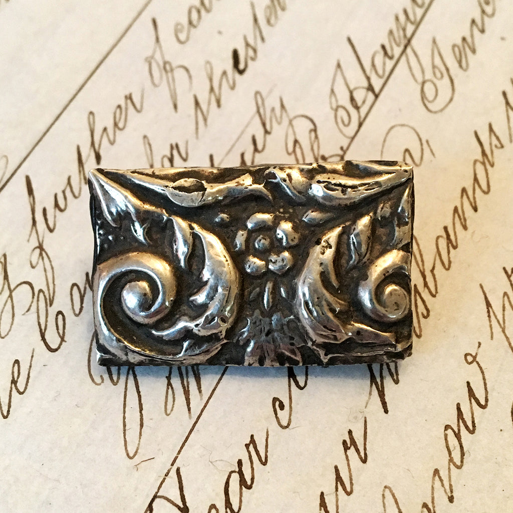 Medium Vintage Silver Brooch