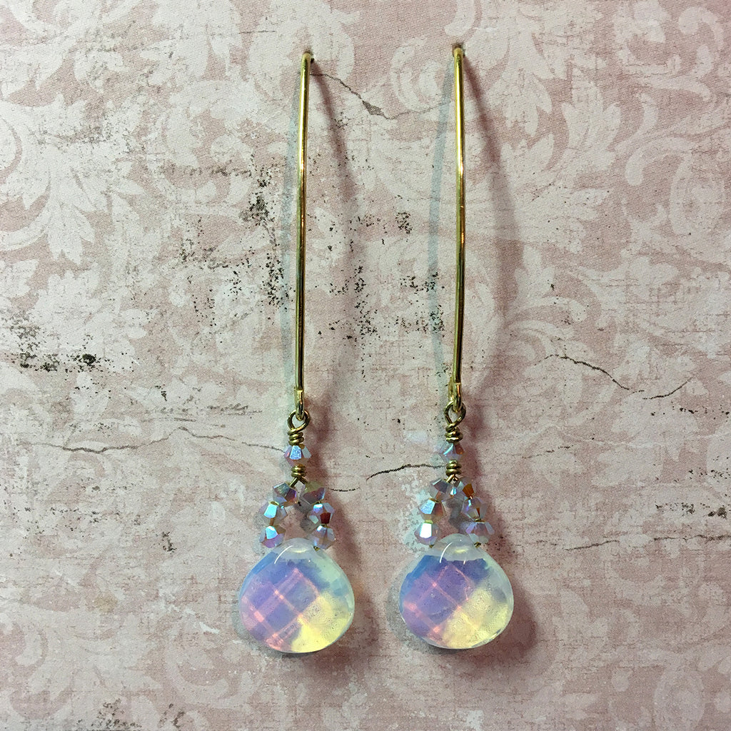 Opalite Arc Earrings