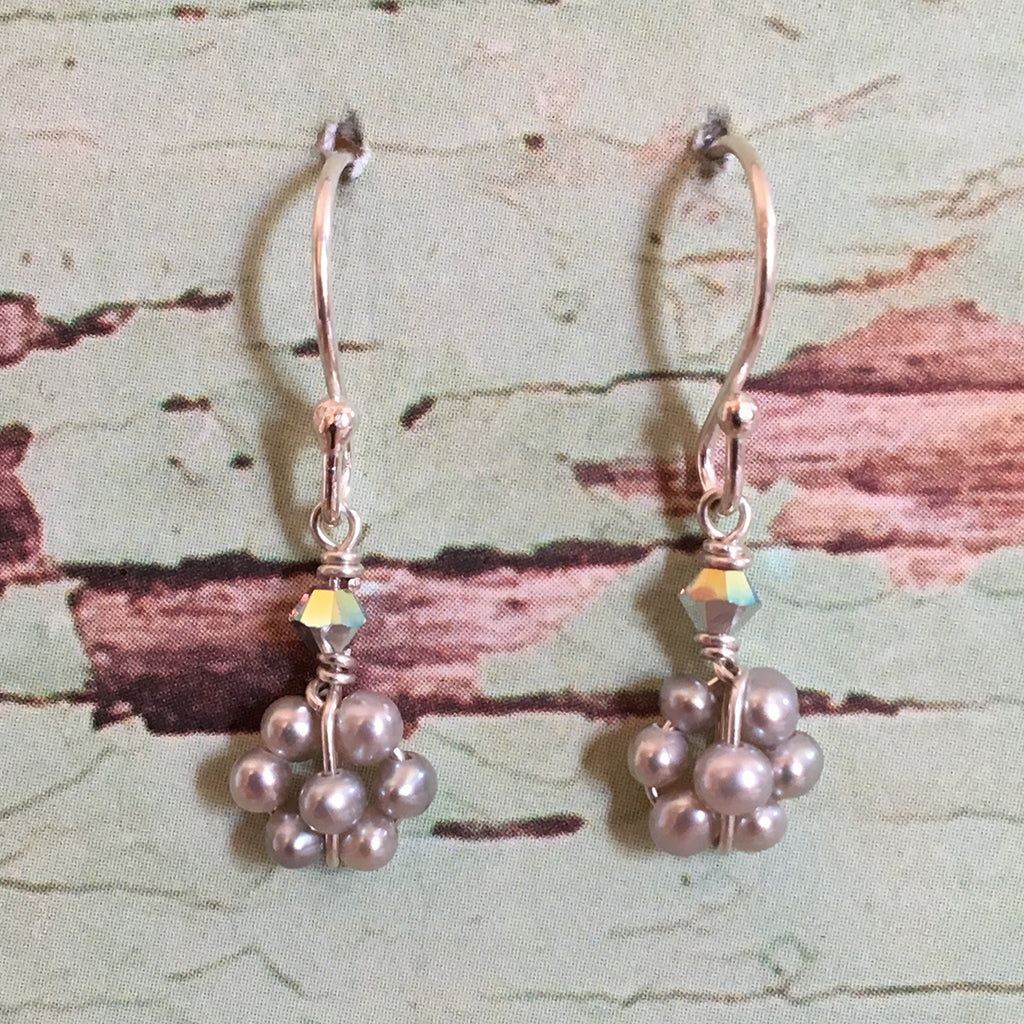 Pearl Daisy Earrings