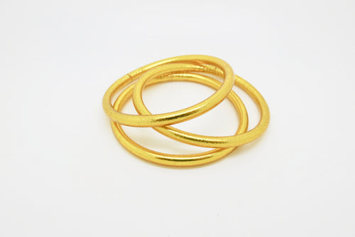 Gold Prayer Bangles Thick