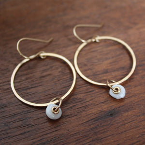Small Puka Hoops with grommet