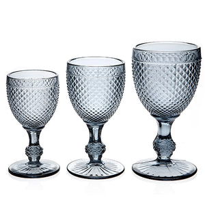 Diamond Wine Glass Gray