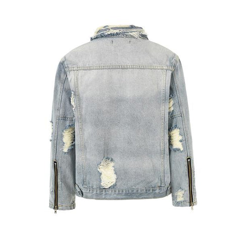 DSRCV Destroyed Denim Jacket - Blue