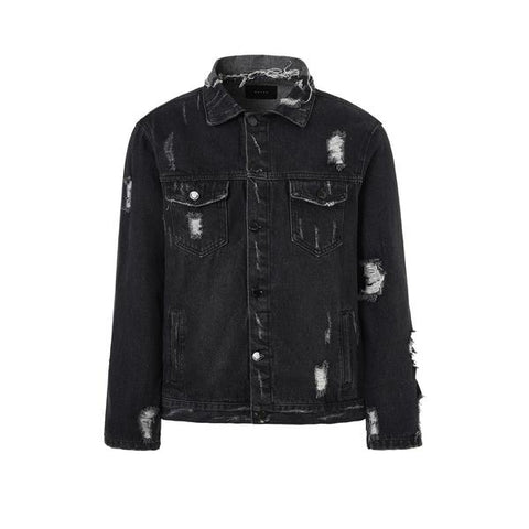 DSRCV Destroyed Denim Jacket - Black