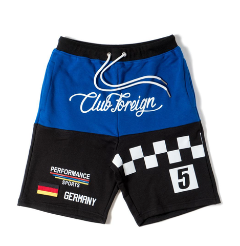 Club Foreign NYC Performance Shorts - Black/Blue