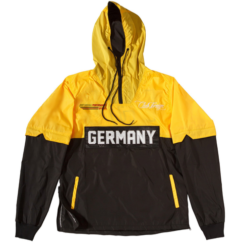Club Foreign Performance Windbreaker Jacket - Yellow/Black