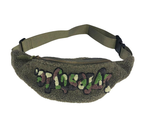 Lyfestyle NYC Camo Waist Bag - Olive Green