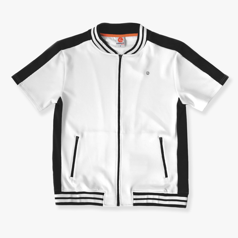 Elbow Grease Moto Racer Track Top - White