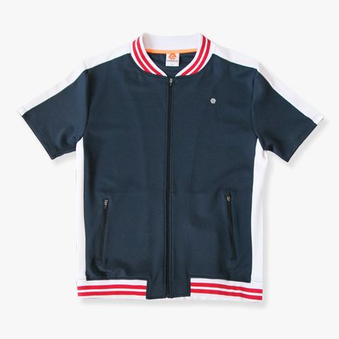 Elbow Grease Moto Racer Track Top - Navy