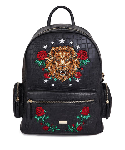 Reason Clothing Croc Skin Tiger Backpack - Black