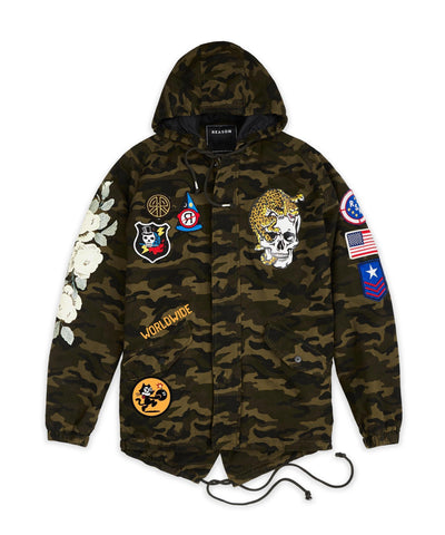 Reason Clothing Personnel Parka Jacket - Camo