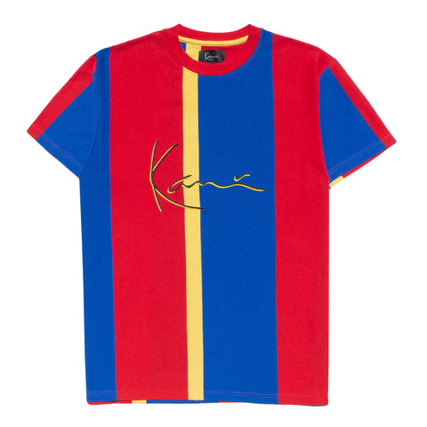 Karl Kani Gates Rugby Tshirt - Red/Yellow/Blue