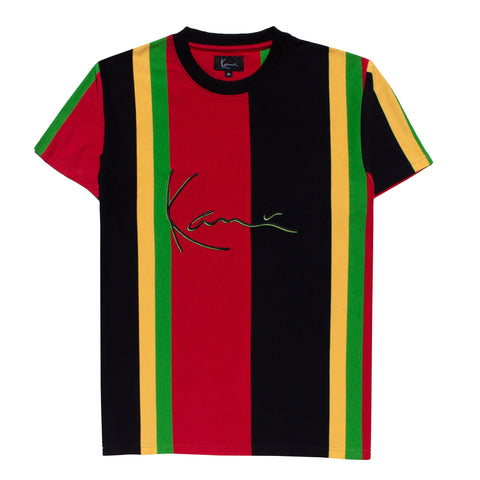 Karl Kani Gates Rugby Tshirt - Yellow/Green/Red