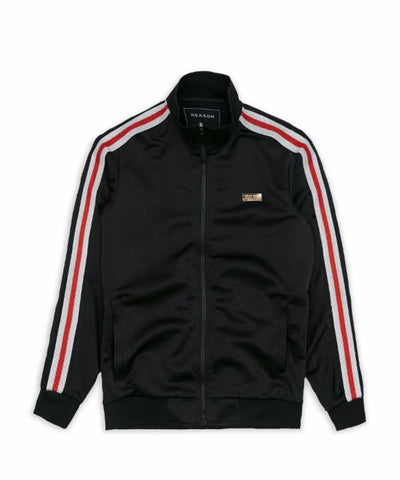 Reason Clothing Fulton Track Jacket - Black