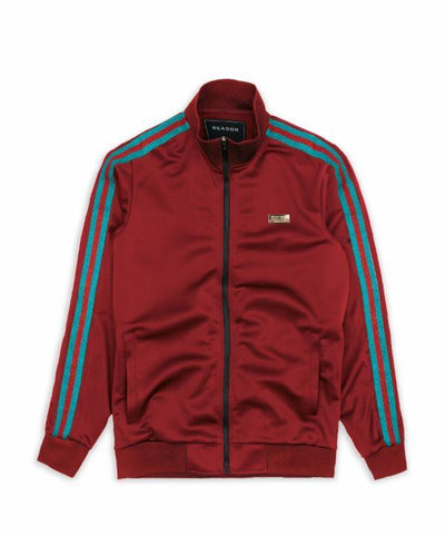 Reason Clothing Mulberry Track Jacket - Burgundy