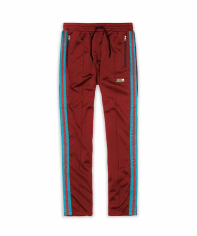 Reason Clothing Mulberry Track Pants - Burgundy