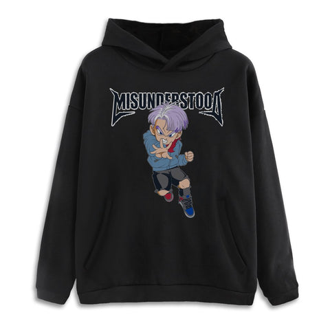 Entree Lifestyle Misunderstood Future Trunks Hoodie - Black