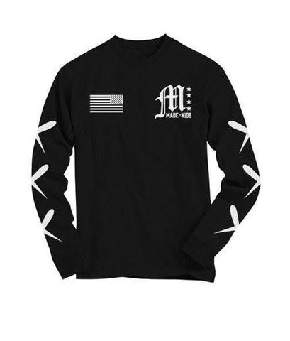 Made Kids Made X Long Sleeve Kids T-shirt - Black