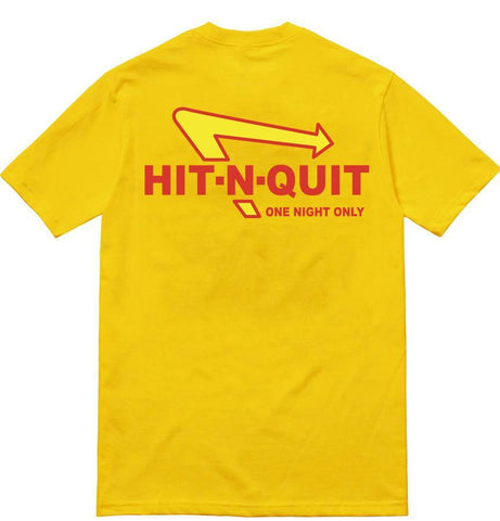SoleBoy Co Hit N Quit T-Shirt - Yellow