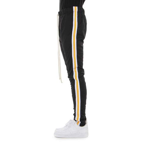 EPTM BLACK/WHITE/YELLOW-TAPED TRACK PANTS