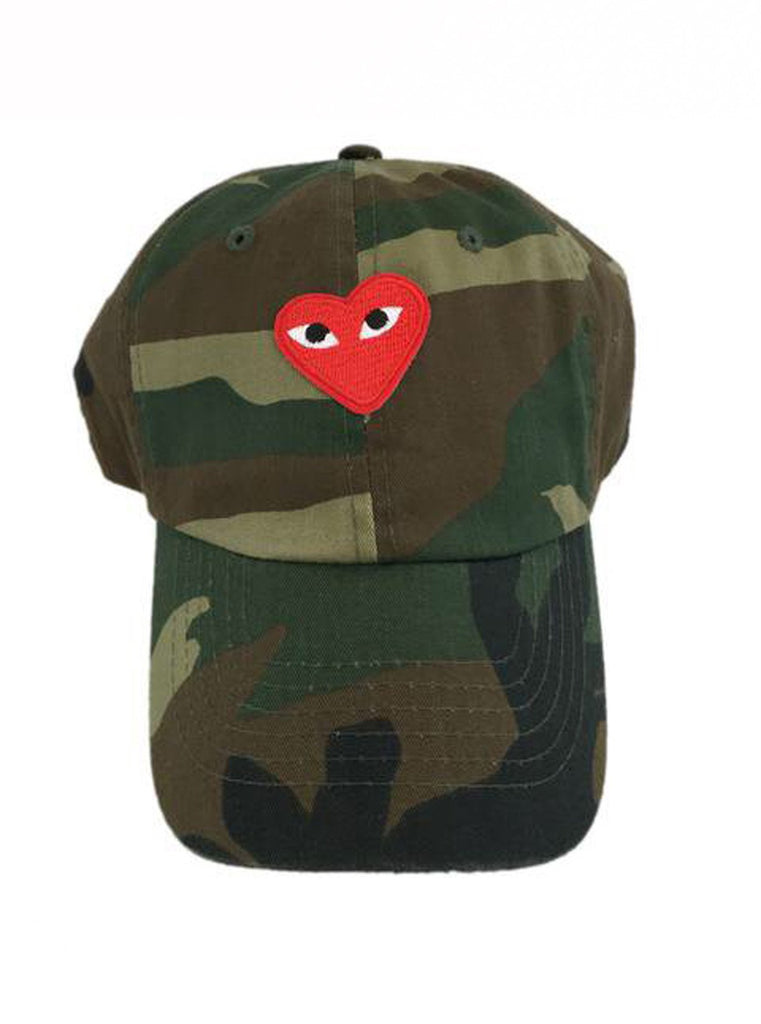By Lee Apparel Red Comme Patch Distressed Dad Hat - Camo – House Of ... e89c0732bdb