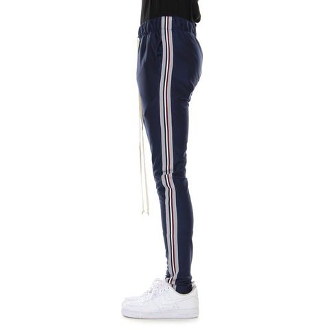 EPTM NAVY/SILVER-TAPED TRACK PANTS