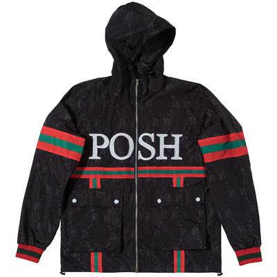 POSH PG WINDBREAKER FULL ZIP JACKET BLACK