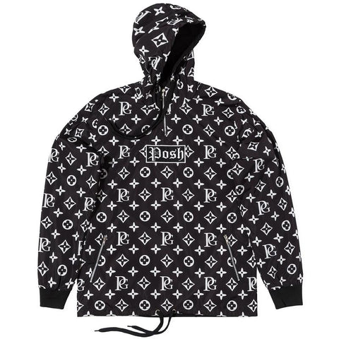 POSH LV_SPRM WINDBREAKER HOODIE JACKET BLACK