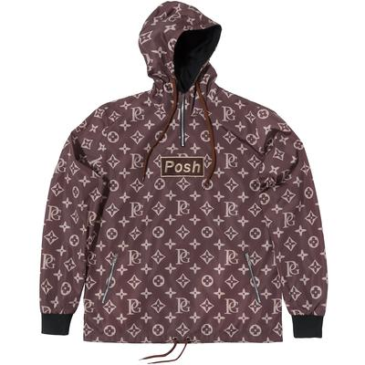 POSH LV_SPRM WINDBREAKER HOODIE JACKET BROWN