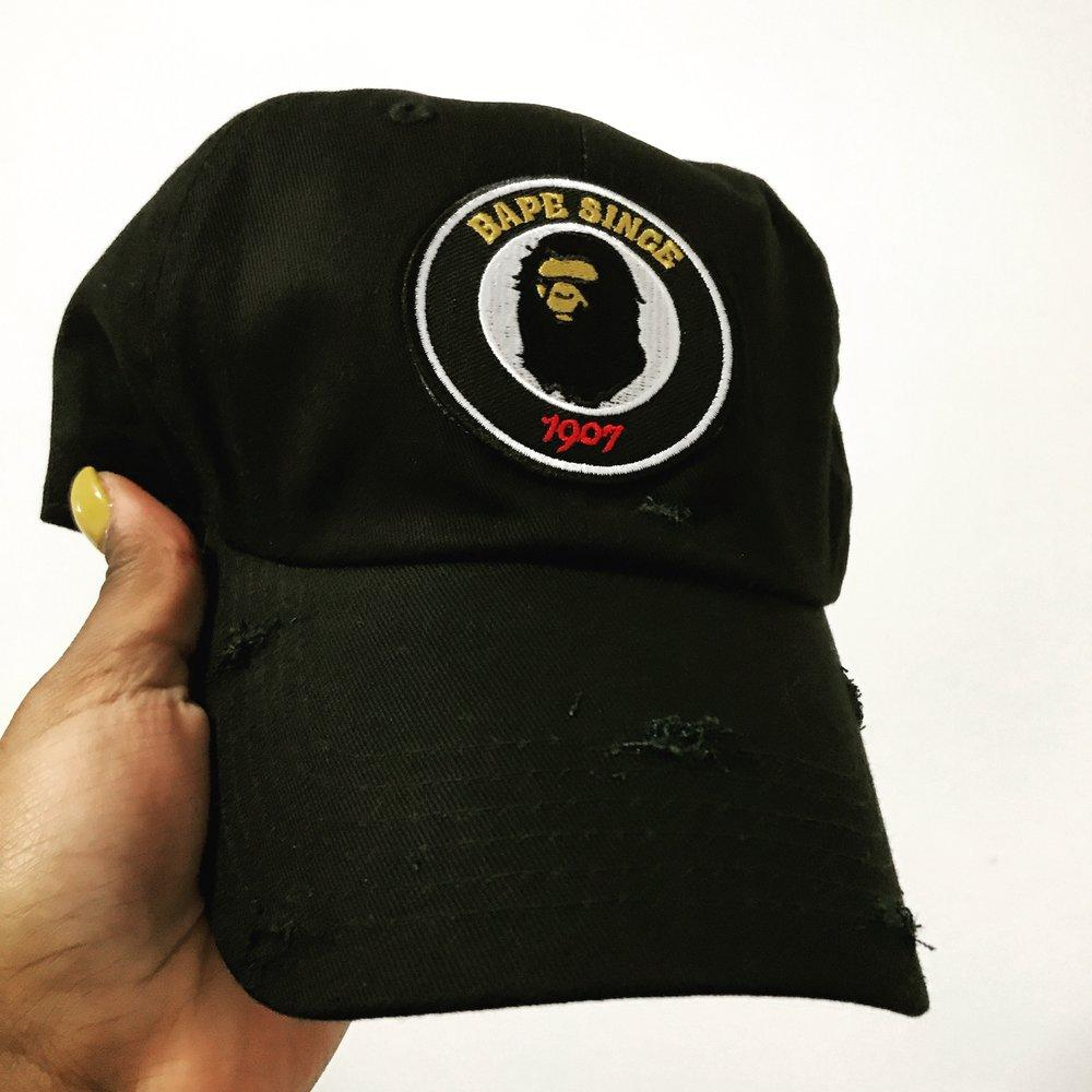 By Lee Apparel Bape Since Distressed Dad Hat - Pick Colour – House ... f0e5b6c76f4