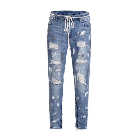 DSRCV DESTROYED SPLATTER DENIM - BLUE