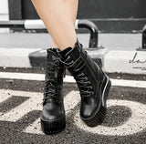 Black Platform Boots for Women