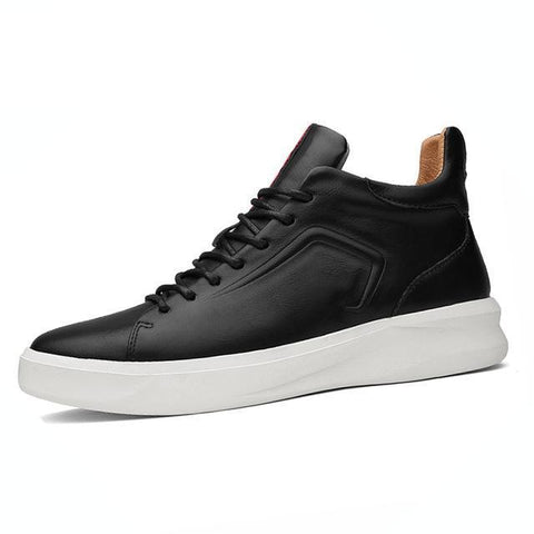 Black Leather Shoes for Men