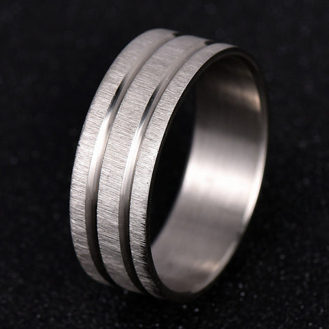 Unisex 316L Stainless Steel Punk Rock Ring