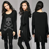 Loose Tassel Top Batwing Sweater