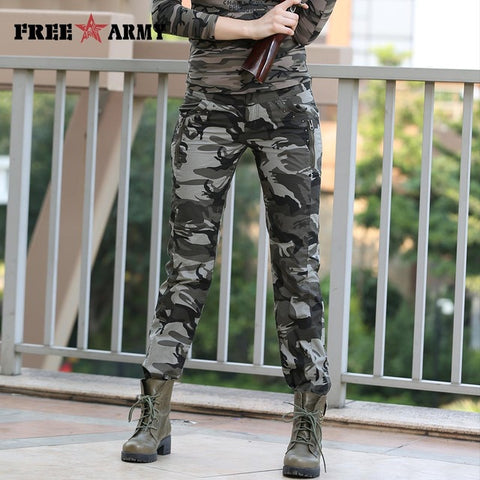 Women Casual Military Pants