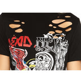 Long T-Shirt Punk Rock Ripped