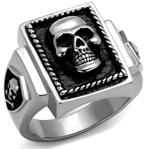 Male Ring Stainless Steel with Skull