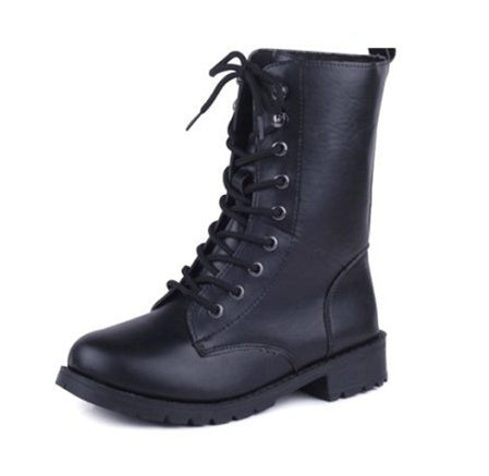 Ladies Laced Up Boots PU leather