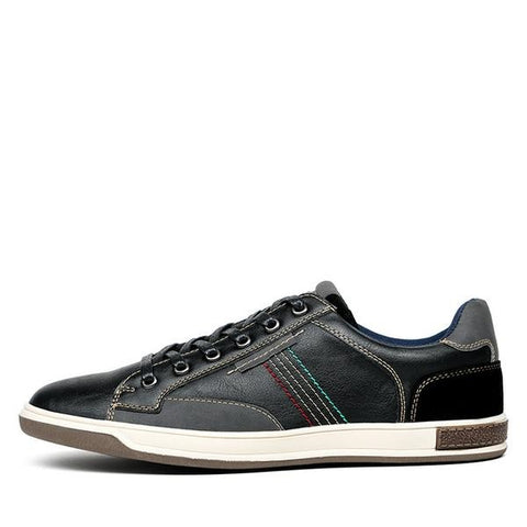 Retro Style Men Shoes, Lace Up, Casual