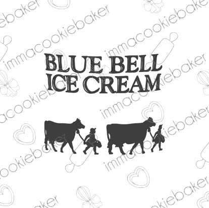 SILK Stencil - TEXAS - Blue Bell Ice Cream Logo