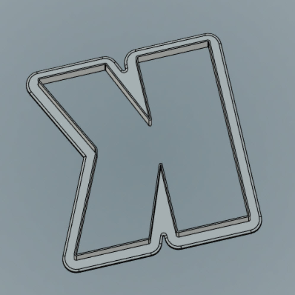 STL DOWNLOAD - Letter K 4""