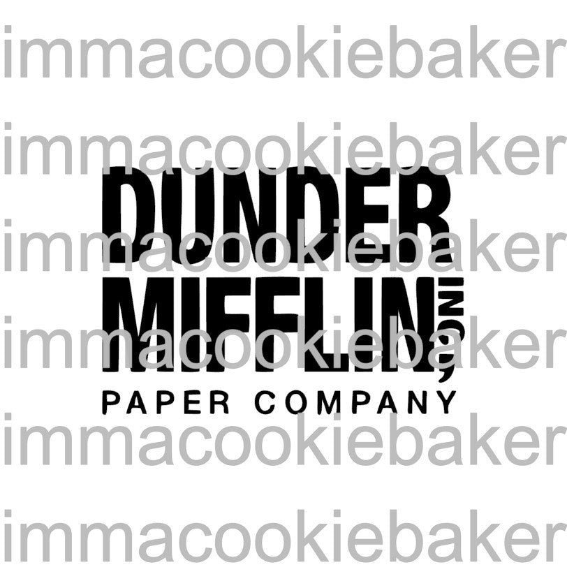 SILK Stencil - The Office: Dunder Mifflin