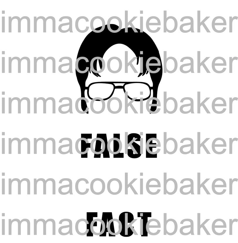 SILK Stencil - The Office: Schrute FALSE FACT 2pt