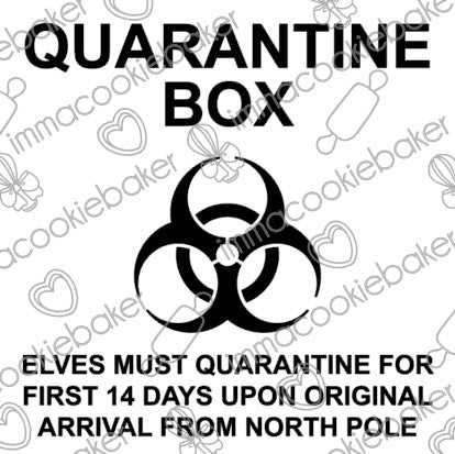 Vinyl Decal -  Quarantine Elf DIY